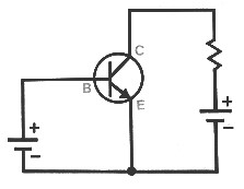 Простая цепь транзистора